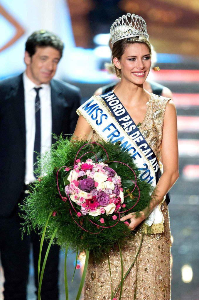 Miss Nord Pas de Calais, Camille Cerf élue Miss France 2015 lors de la cérémonie d'election au Zenith d'Orléans.