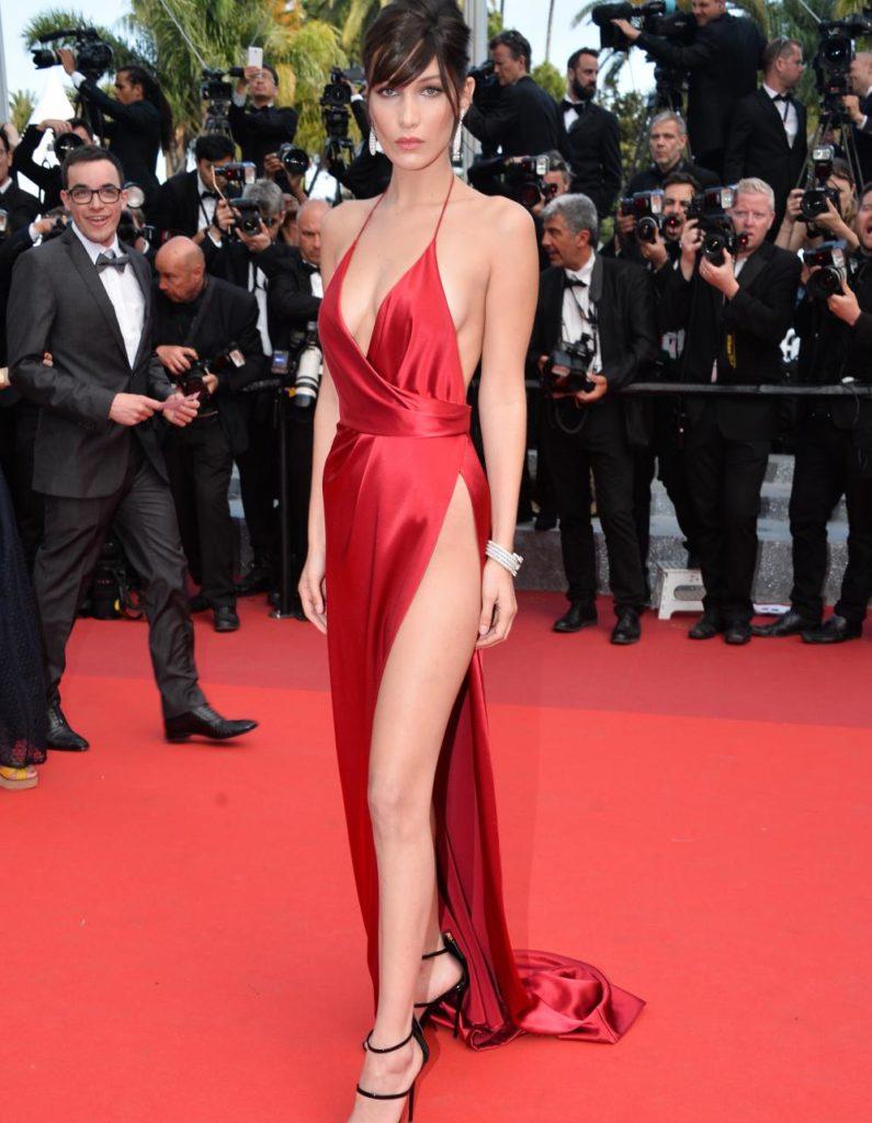 Bella Hadid lors du 70ème Festival International du Film de Cannes.