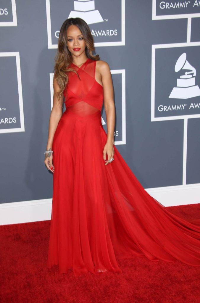 Rihanna lors de la 55ème cérémonie des Grammy Awards.