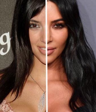 Kim Kardashian Avant Après