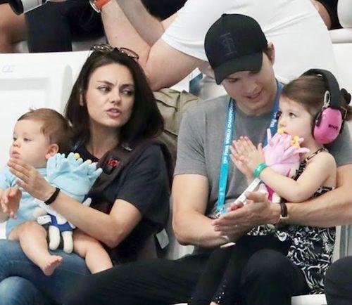 Dimitri Portwood Kutcher avec sa famille