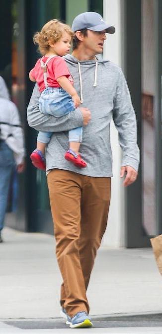 Dimitri Portwood Kutcher avec Ashton Kutcher