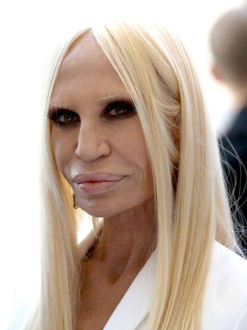 Donatella Versace - photos avant après