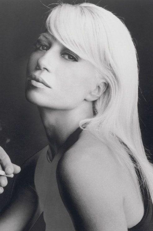 Donatella Versace dans les années 90