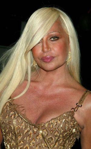 Donatella Versace plus jeune
