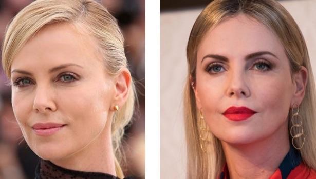 Charlize Theron Avant/Après Chirurgie Paupières