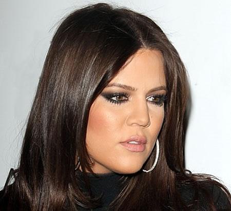 Lèvres Khloé Kardashian avant injections
