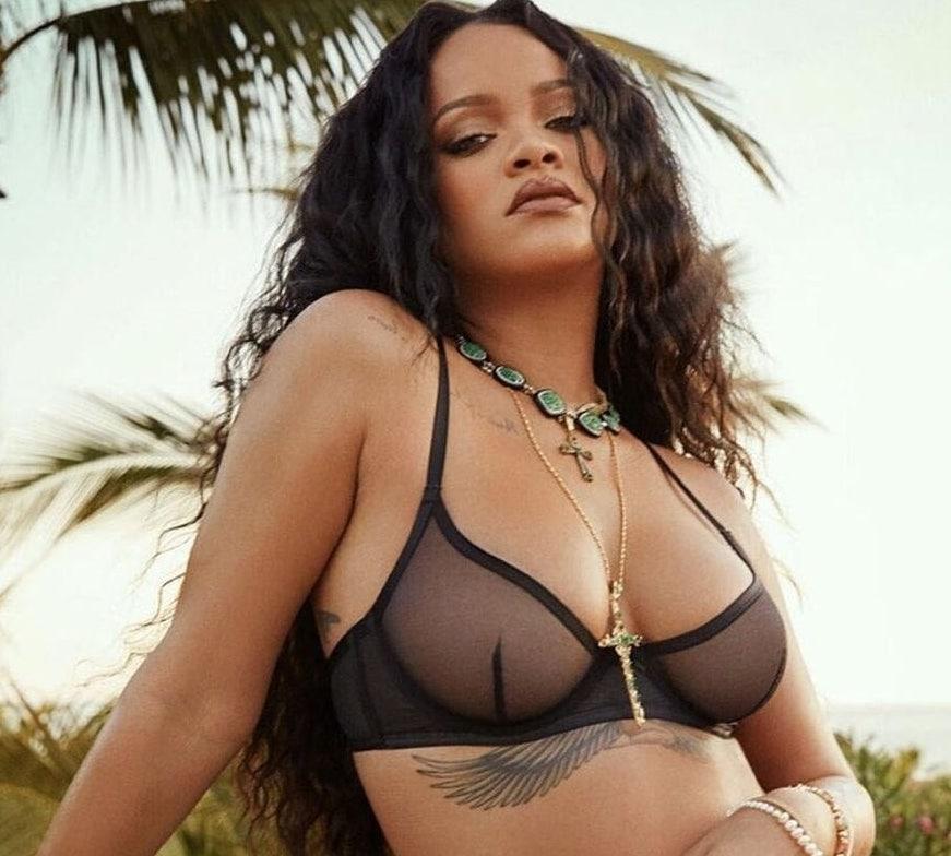 Rihanna nez après augmentation des seins